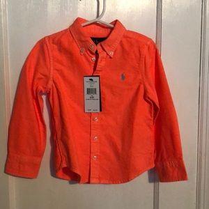 Bright Orange 3/3T Ralph Lauren Button Down